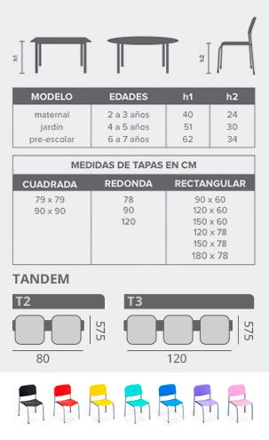 Sillas y mesas Piccolo